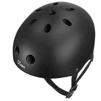 JBM Skateboard Helmet CPSC ASTM Certified Impact resistance Ventilation for Multi-sports Cycling Skateboarding Scooter Roller Skate Inline Skating Rollerblading Longboard