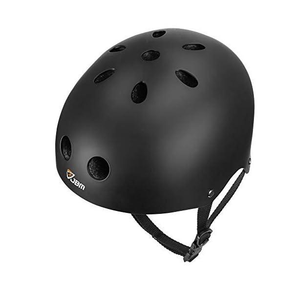 JBM Skateboard Helmet CPSC ASTM Certified Impact Resistance Ventilation for Multi-Sports...