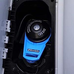41XTG2 KLML. SS300 AdBlue Deckel Sicherung Tanksicherung für Tankverschluss Tankdeckel (Typ Citroen Jumper, AdBlueSafe Blau)