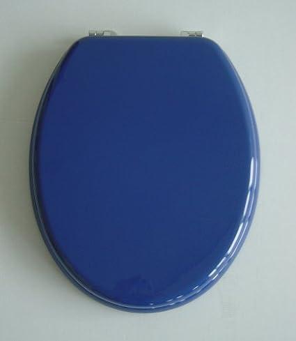 Favorit WC Sitz Klobrille mit Holzkern, Farbe Blau, verstellbare SE23