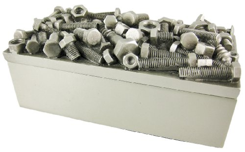 Silver Finish Nuts Bolts Trinket/Jewelry Box Success