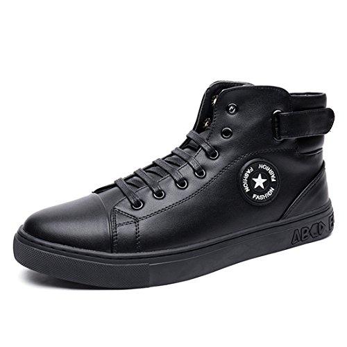 Sport De Plein Air Pour Hommes Running Chaussures De Marche Léger Baskets Casual 9672 Noir