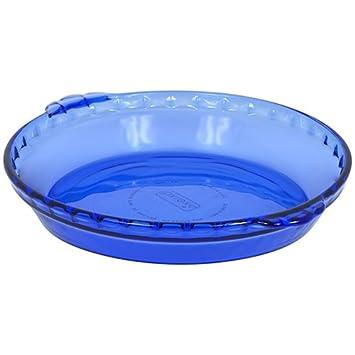 Plato de tarta de Pyrex para repostería, 9 - 1/2-inch, cobalto: Amazon.es: Hogar