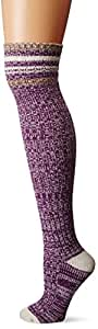 Life is good Women's Over Knee Love Sock (Smoky Plum), One Size