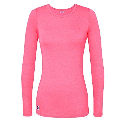 Sivvan Women's Comfort Long Sleeve T-Shirt / Underscrub Tee - S8500 - Neon Pink - M]()