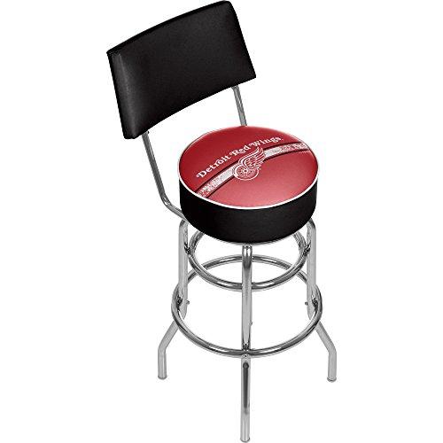 Trademark Gameroom NHL Detroit Redwings Swivel Bar Stool with Back