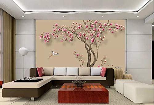 Wall Mural 3d Hand Drawn Magnolia Tree Wallpaper 3d Large Murals Modern Living Room Bedroom Wall Decoration Amazon Com