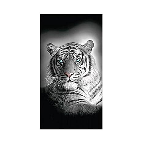 Toalla de playa tigre de Bengala, 100% algodón, 75 x 150 cm: Amazon.es: Hogar