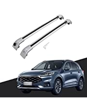 Titopena Silver Cross Bars fit for Ford Escape 2020 2021 2022 Roof Top Rack Rails Black Cargo (Compatible with Flush Side Rails)