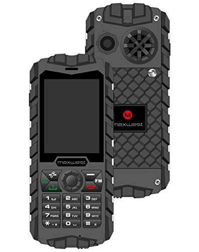 Rugged Cell Phone Unlocked 2G GSM Waterproof Shockproof Maxwest Ranger...
