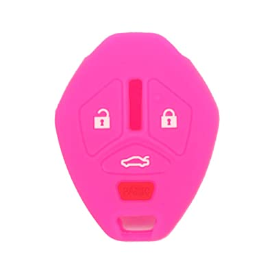 SEGADEN Silicone Cover Protector Case Skin Jacket fit for MITSUBISHI 4 Button Remote Key Fob CV4522 Rose: Automotive