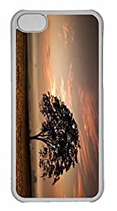 iPhone 5C Case, Personalized Custom Tree Evening for iPhone 5C PC Clear Case