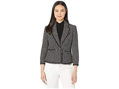 Anne Klein Patch Pocket Collar Jacket Anne Black/Anne White 10
