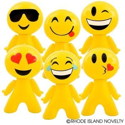 "RIN Awesome Set of 6 Huge 27"" Emoji /Emoticon Inflates/Party Decorations Favors/Decor: Toys & Games"