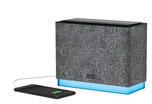 iHome iBTS70 Studio Series Wireless Bluetooth Speaker Rechargeable Stereo System with Ambient Light, Voice Control, Caller ID, and Passive Subwoofer