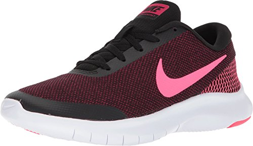 (Nike Womens WMNS Flex Experience W 7 Black/Racer Pink Cherry White Size 8)