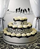 Grand Display Tower for Cupcakes - Love Bird Damask