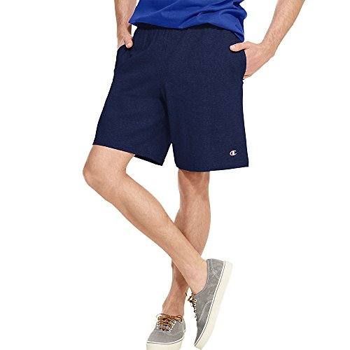 Champion Authentic Cotton 9-Inch Men's Shorts with Pockets_Navy_Medium