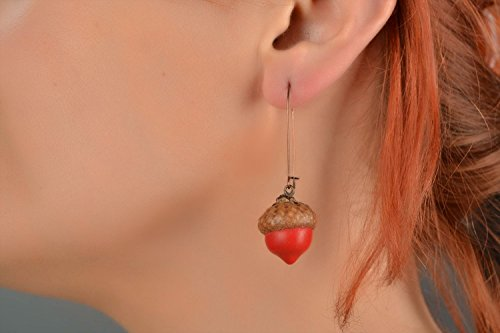 Handmade designer polymer clay dangle earrings of unusual shape jewelry ideas ()