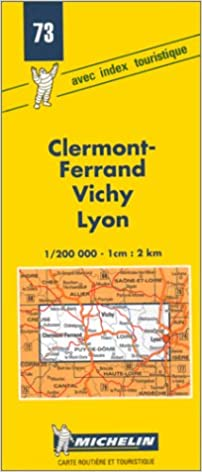 Michelin Clermont-Ferrand Vichy Lyon Map No.73