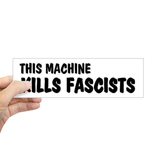 CafePress Machine Fascists Sticker Rectangle
