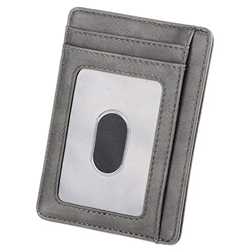 Money Mini noir Double Portefeuilles Gris Wall Galets Clip Square Solid Ouvert Yagaiu 5gnRwCqa5