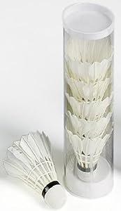 6 echte Federbälle Badminton Bälle Angel Toys