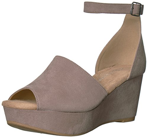 Women's Taupe Sandal Chinese Pebble CL Laundry Wedge Dara by Suede nTptBBxfwA