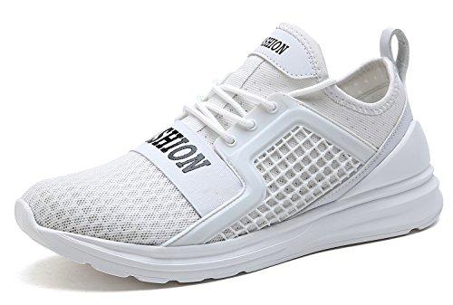 Ginnastica Scarpe Mesh Sneakers da Corsa bianco Ashion Training 3 Uomo by Fitness Respirabile Leggero Scarpe Running Scarpe da Sport VITIKE PEwqff