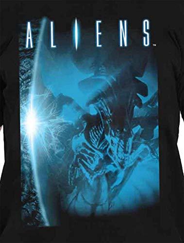 Title Nuovi T Aliens ufficiali neri Shirt uomini Logo Movie p1wqSnxqf