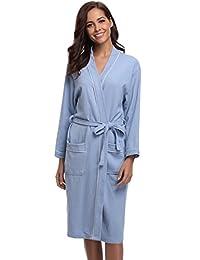 15ec1cc1ad Aibrou Women s Waffle Weave Wrap Robe Kimono Bathrobe for Women