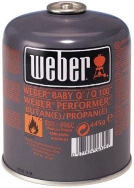 Weber - Bombona de gas de tamaño pequeño (445 g) para serie ...