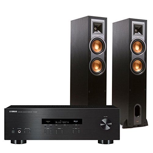 Yamaha R-S202 Bluetooth Stereo Receiver with Klipsch R-26F Reference Floorstanding Speakers (Black) by Yamaha