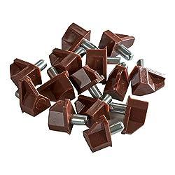 100 Pack Rok Hardware 5mm Brown Shelf Support Bracket Steel Pin Peg Kitchen Cabinet Book Shelves Holder