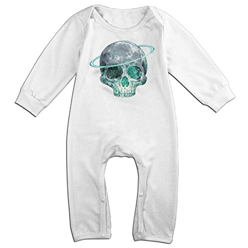 Cosmic-skull Long Sleeve Bodysuit Baby Onesie Baby Climbing Clothes For 0-24 Months White 18 Months