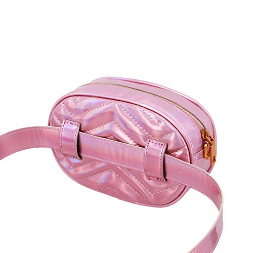 mo Multi Small Bolso Cruzados Mujer Para Pink Holographic Holographic Pink 4d0dqrw