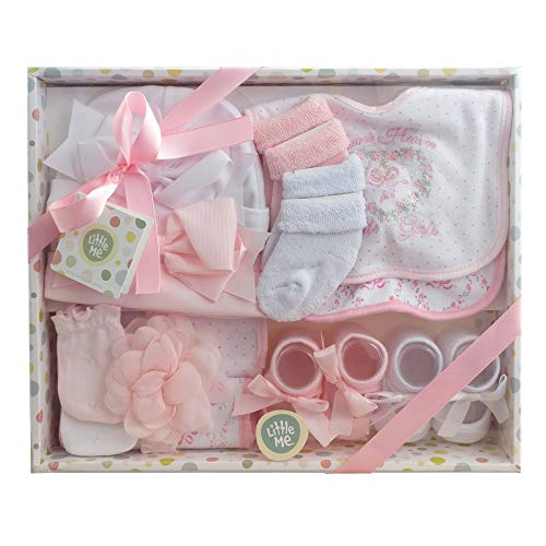 Little Me 13 Piece Take Me Home Gift Set for Newborn Baby Girls from Little Me