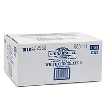 Ghirardelli Chocolate Sweet Ground White Chocolate Flavor Beverage Mix, 25-Pound Package