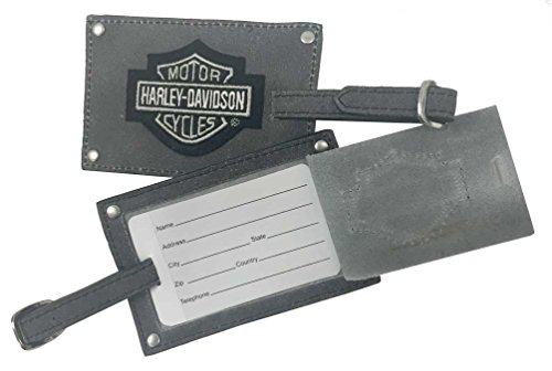 harley-davidson-bar-shield-belted-luggage-tags-gray-leather-99301-gray