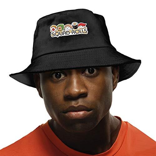 (Unisex Cute Squad Rolls Sushi Bucket Hat Summer Fisherman Cap)