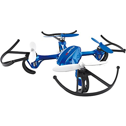 WonderTech Invader Drone RC 6-Axis Gyro Remote Control Quadcopter Flying Drone with LED Lights | Blue by WonderTech Invader