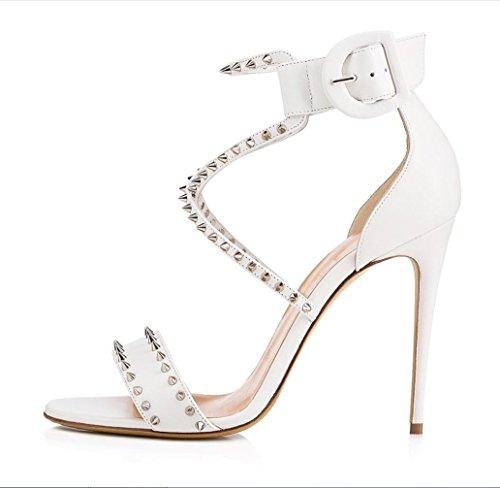 誰の代表して効果的にMs. Extreme High Fashion Peek ShoesハンドメイドサンダルウェディングブライドハイヒールイブニングドレスSlim Foot Slip On ShoesXIAOQI