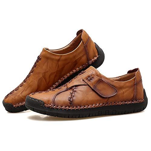 Taille Talon Plat Hommes Casual Lan Sur Yellow De Loisirs Confortable Chaussures 45 Brown Slip Grande Doux Brown Shuo color Classique Cricket chaussures Oxford Eu Axv8nnw0