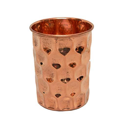 (Shri Surya Handicraft Copper Glass Tumbler Drinkware 300 ML)