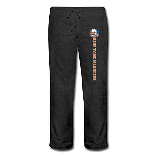 Women's Logo New York Islanders Funny Cotton Sweatpants Black