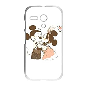 Motorola G Cell Phone Case White Disney Mickey Mouse Minnie Mouse as a gift H4087583