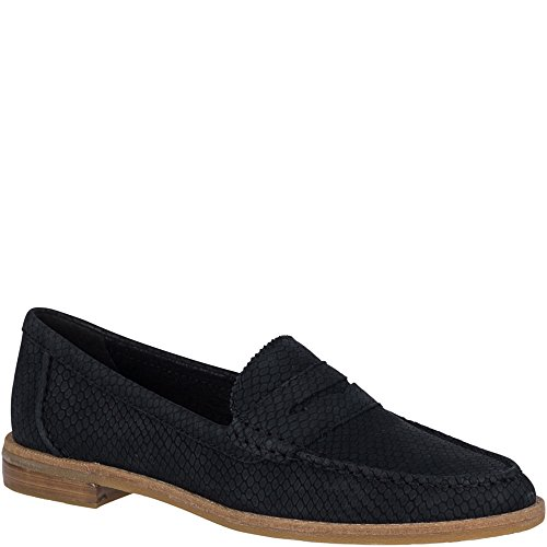 Sperry Top-Sider Seaport Penny Snake Loafer Women 7 Black