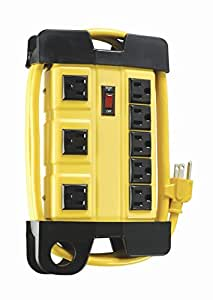 Woods Pro Power Strip With 8 Outlets, 6 foot cord