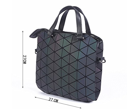for Women Casual Handle FZHLY Lightning Shoulder Bag Men Messenger Tote Luminous Pattern Single top Amazing Lingge and Briefcase Bag Luminous qPPxIp