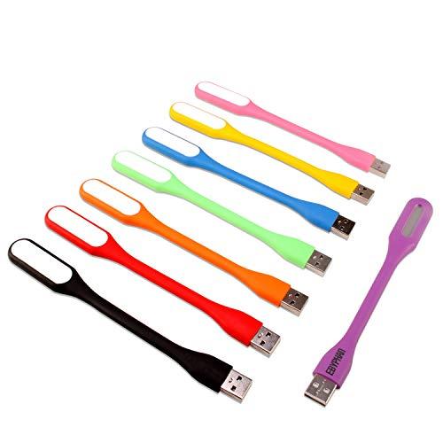 8-Pack EBYPHAN USB LED Lights, Mini USB LED Lamp, Computer Keyboard Light for Laptop (Flexible Gooseneck Reading Lamp, Adjustable Lampshade, 8 Colors USB Lights)